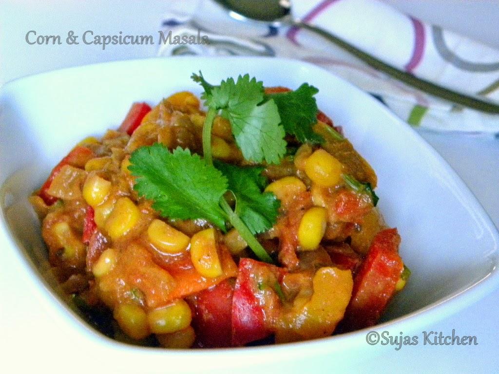 Corn & Bell peppers in gravy