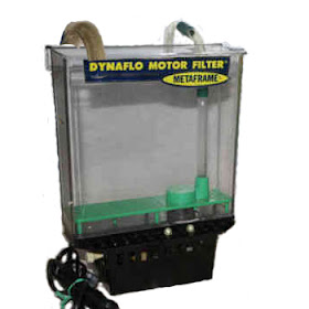 Dynaflo Motor Filter with siphon tube and magnetic drive impeller came out in 1960s