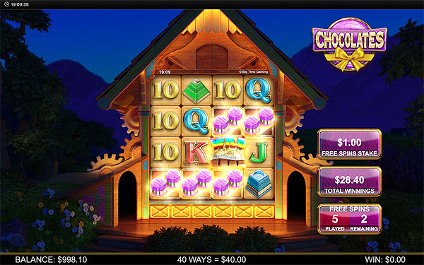 Main Gratis Slot Indonesia - Chocolates (Big Time Gaming)