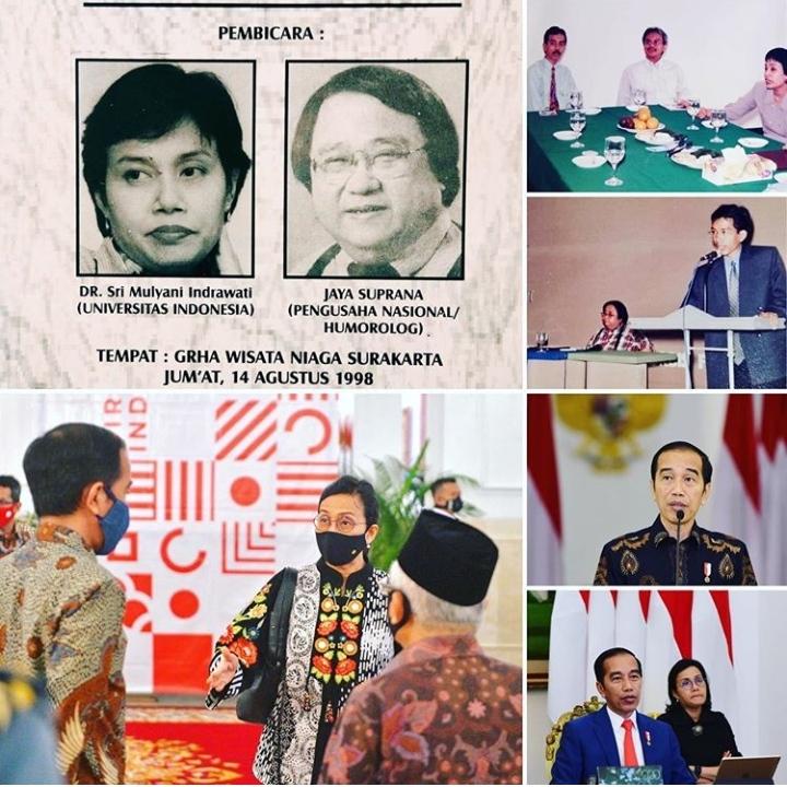 Sebelum Nota Keuangan Tiba-tiba Sri Mulyani Posting Foto Jadul Bersama Jokowi, Takut Direshuffle?