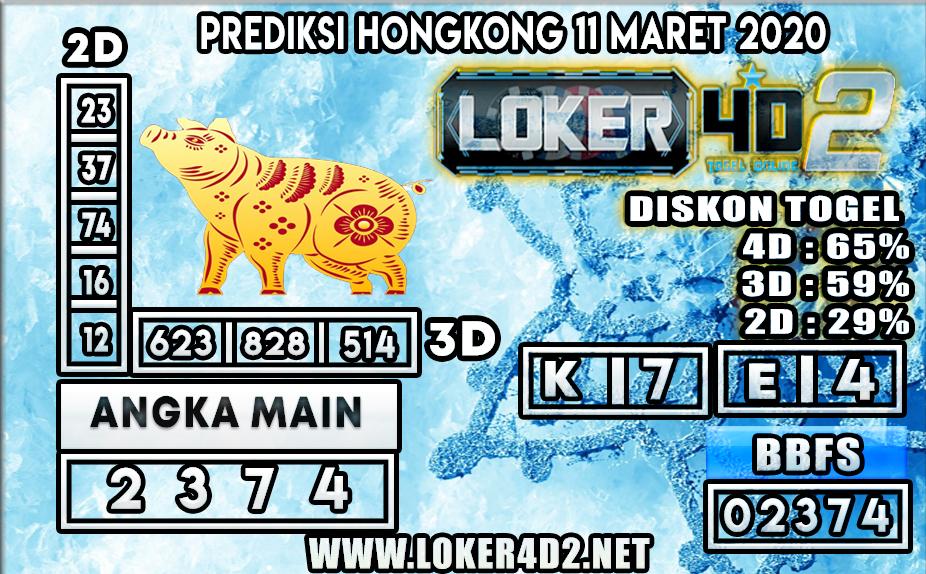 PREDIKSI TOGEL HONGKONG LOKER4D2 11 MARET 2020