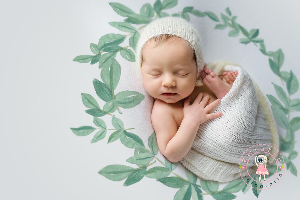 Kwiatku fotografia noworodkowa