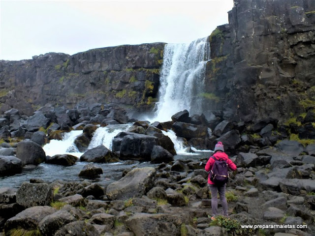 visitar la cascada Öxarárfoss en Islandia
