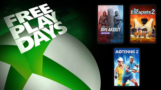 ao tennis 2 escapists 2 warface breakout xbox live gold free play days event