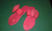 Sandal Wedges Pita Polkadot Tasikmalaya