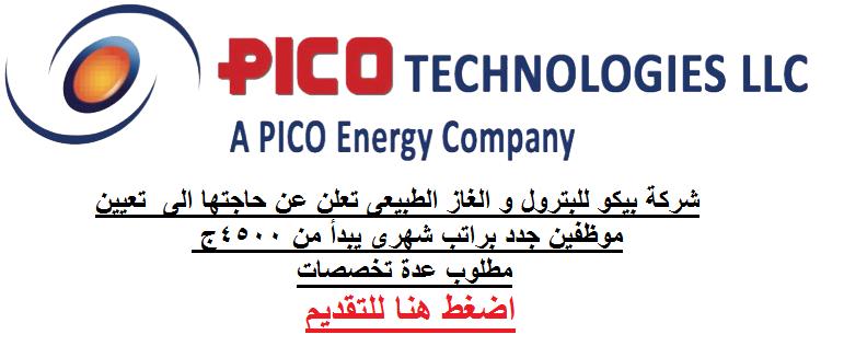 وظائف شركة بيكو للبترول والغاز الطبيعى 2021