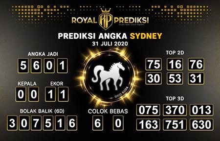 Royal Prediksi Sidney Jumat 31 Juli 2020