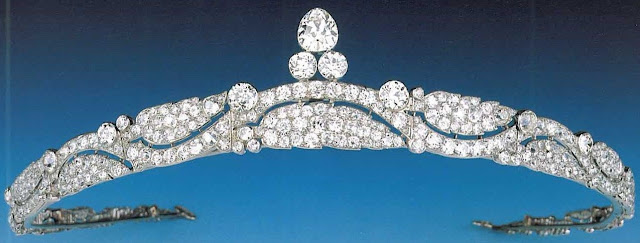 diamond bandeau tiara cartier princess azrinaz brunei