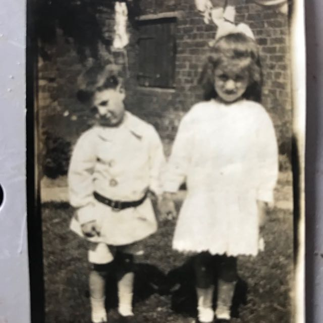1918 photograph boy and girl