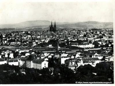 Photo ancienne de Clermont-Ferrand vue générale de Chamalières