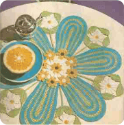 "Tapete ""Ramos de Flores"" a Crochet"