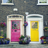 Images of Dublin: Pink and yellow doors