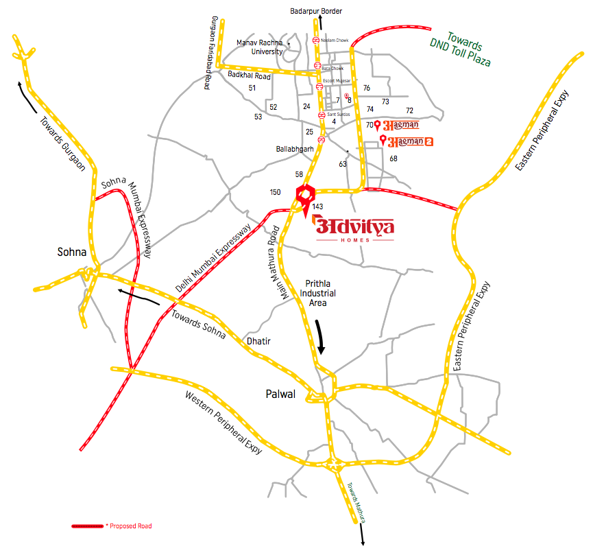 Advitya Homes Location Map