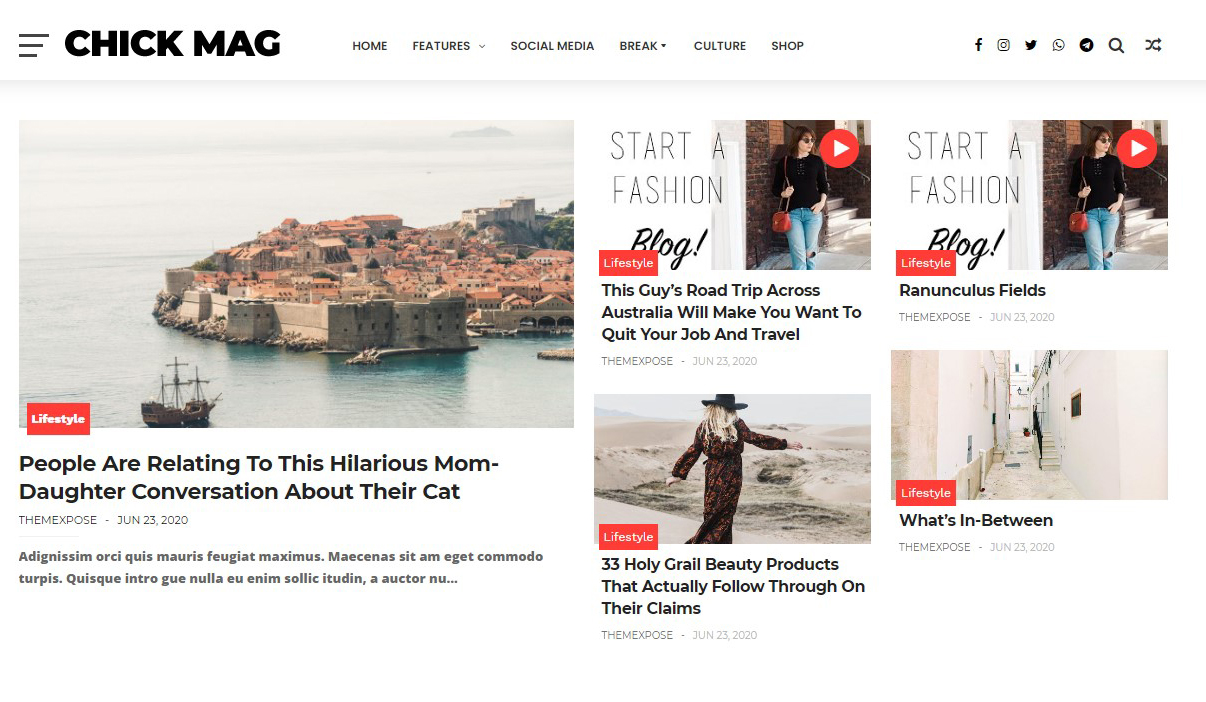 ChickMag Pro Responsive Blogger Template