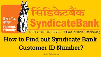 Syndicate bank customer id