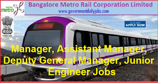 BMRCL Jobs Recruitment 2018 for 33 Junior Engineer, Section Engineers