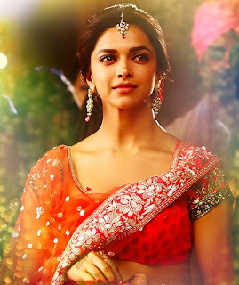 Deepika Padukone In Red Saree