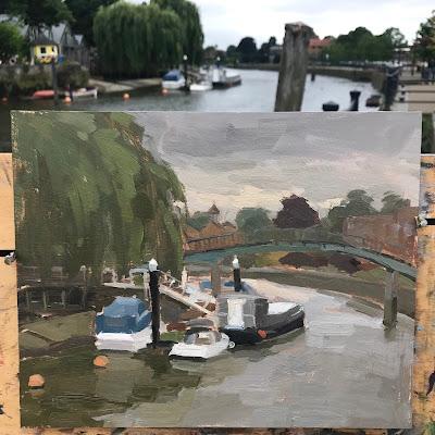 #206 'The Thames at Twickenham' 8×10″