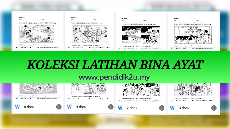 Latihan Bina Ayat Berdasarkan Gambar Pendidik2u
