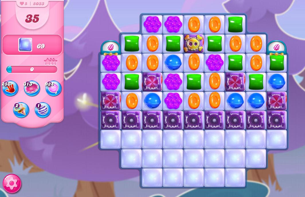 Candy Crush Saga level 8033
