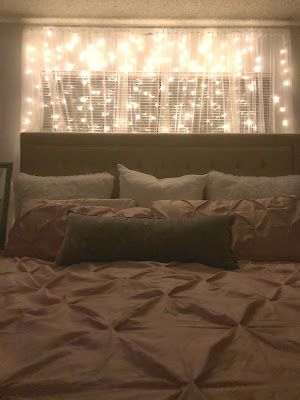 how to make your bedroom more romantic, lights for bedroom, light wall, light headboard, fairy lights for bedroom, where to buy fairy lights