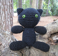 Black Cat in Plush Crochet