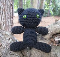 Black Cat in Plush Crochet