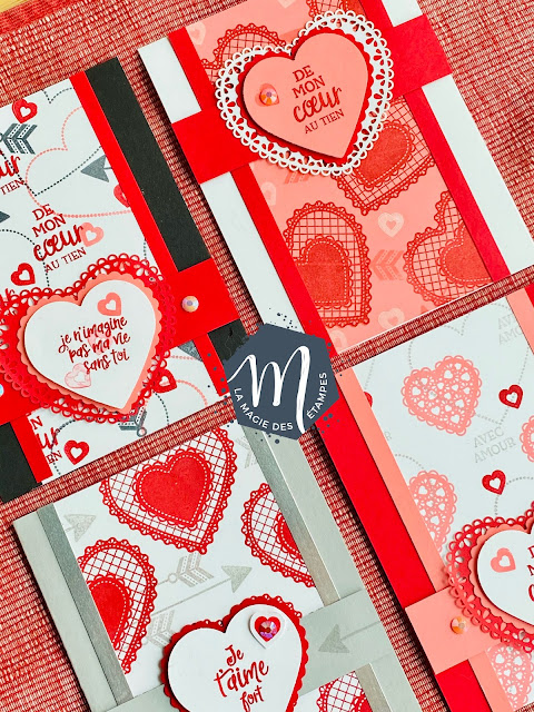 Cartes avec la collection Du fond du coeur Stampin' Up! 2020