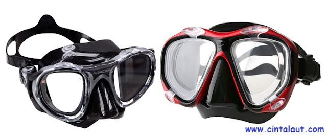 desain gambar masker selam kacamat aselam