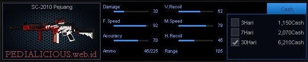 Detail Statistik SC-2010 Pejuang