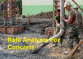 Rate Analysis For Concrete