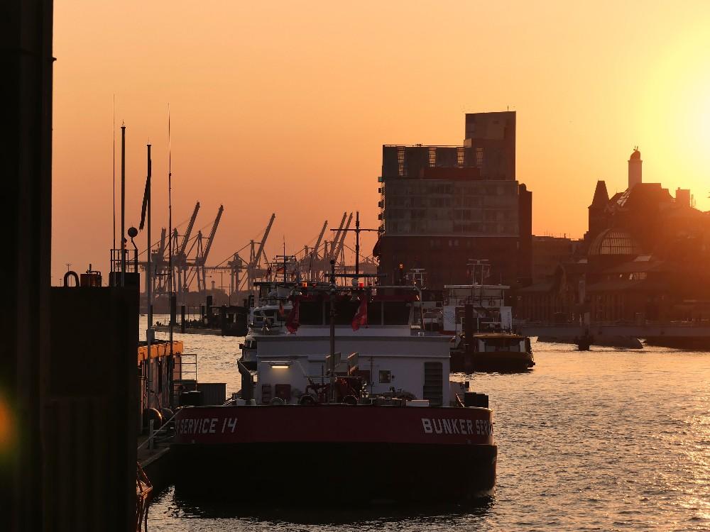 Elbe im Abendlicht