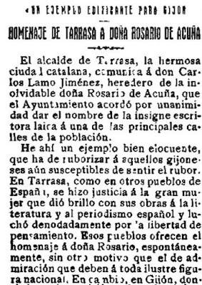 Fragmento del artículo publicado en la edición de El Motín de 29-3-1924
