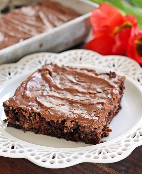 Frosted Chocolate Zucchini Brownies