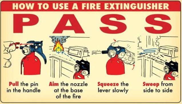 cara menggunakan alat pemadam api ringan (apar)