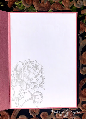 Prized Peony Sympathy card, Andrea Sargent, Independent Stampin' Up! Demonstrator, South Australia