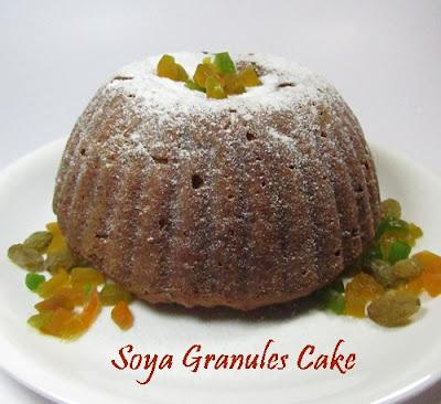 Soya Granules Cake