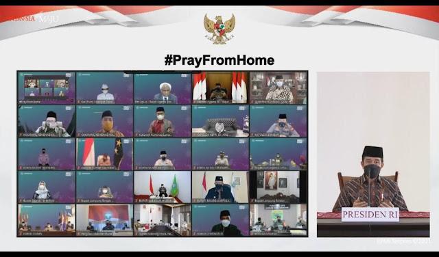 Hadiri #PrayFromHome Virtual Bersama Presiden, Sandiaga Uno Ajak Insan Pariwisata Lakukan ini