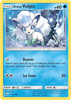 Alolan Vulpix Guardians Rising Pokemon Card