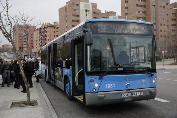 Nueva l nea de autobuses emt entre la ca ada real galiana for Oficinas del consorcio de transportes de madrid puesto 2