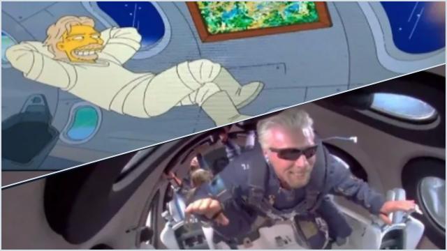 <i>The Simpsons</i> Bikin Geger, Lagi-lagi Berhasil Prediksi Richard Branson ke Luar Angkasa
