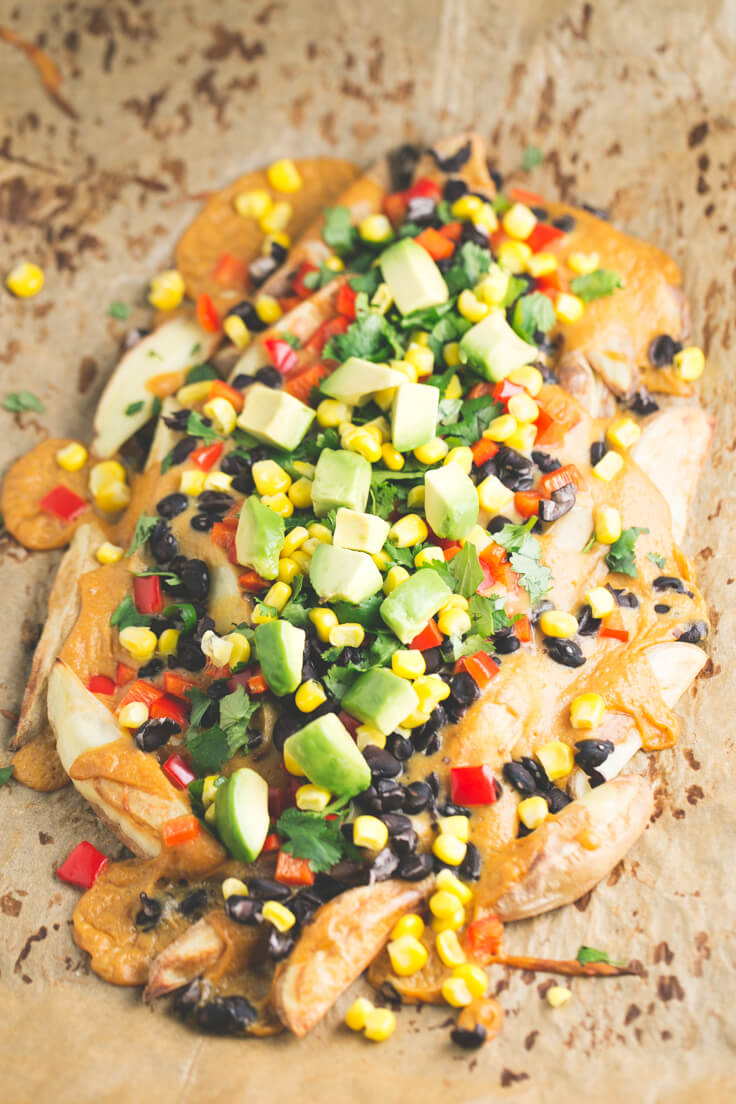 Potato nachos: Potato nachos are a healthy, cheap, and delicious alternative to traditional nachos that are often packed with additives and refined ingredients.