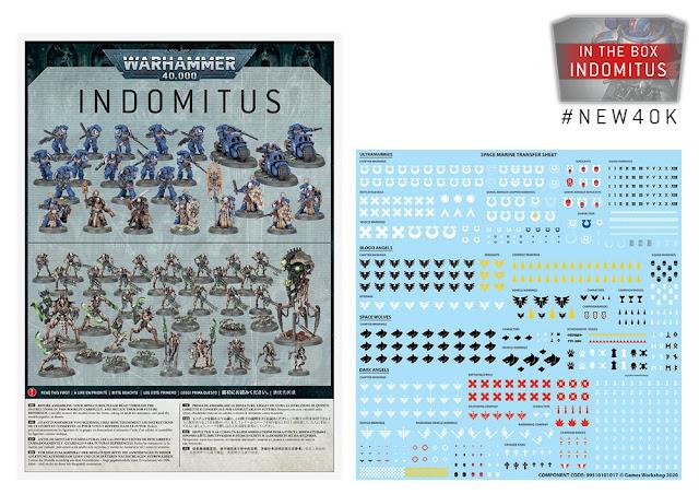 Manuale de montaje y calcas caja Indomitus