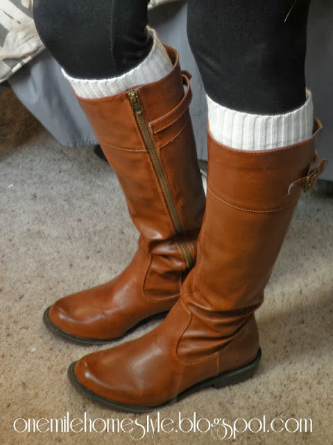 Boot socks from a sweater