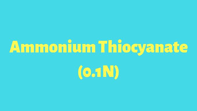 AMMONIUM THIOCYANATE SOLUTION, 0.1 N