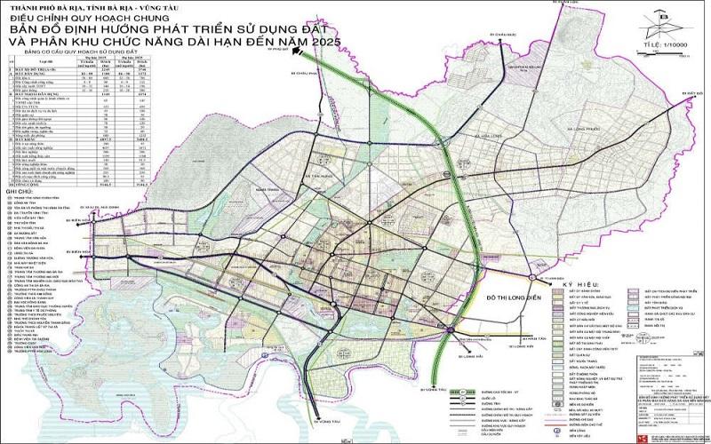 Quy hoạch thành phố Bà Rịa đến 2025