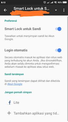 Cara menonaktifkan google smart lock instagram dan Hapus Sandi Instagram Tersimpan