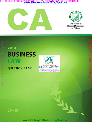 CAF-03 - Business Law 2013- Question Bank