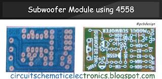 PCB Design Subwoofer Module Amplifier using 4558