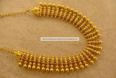 Beautiful Gold Short Necklace for Bridals ~ Latest Indian ...